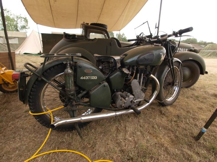 Old Matchless motorcycle