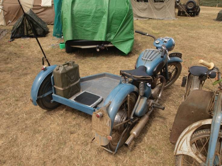 Unknown motorcycle with side car