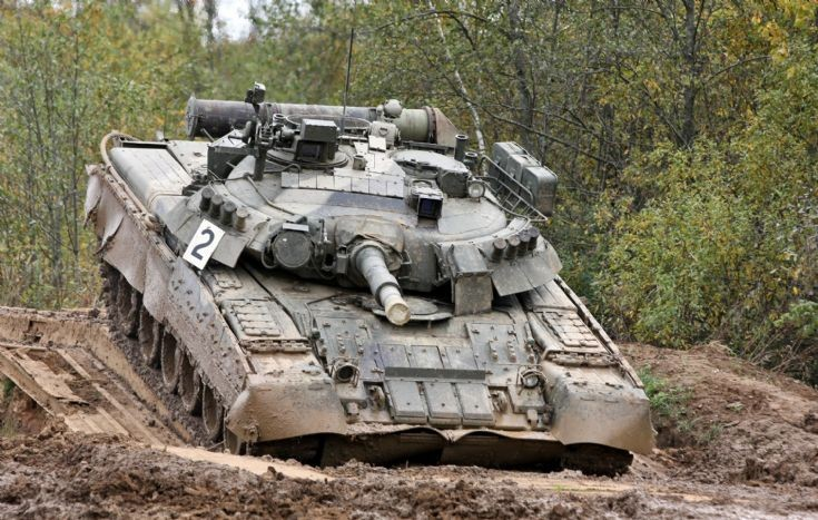 Russian T-80U of the 4th Tank Brigade.