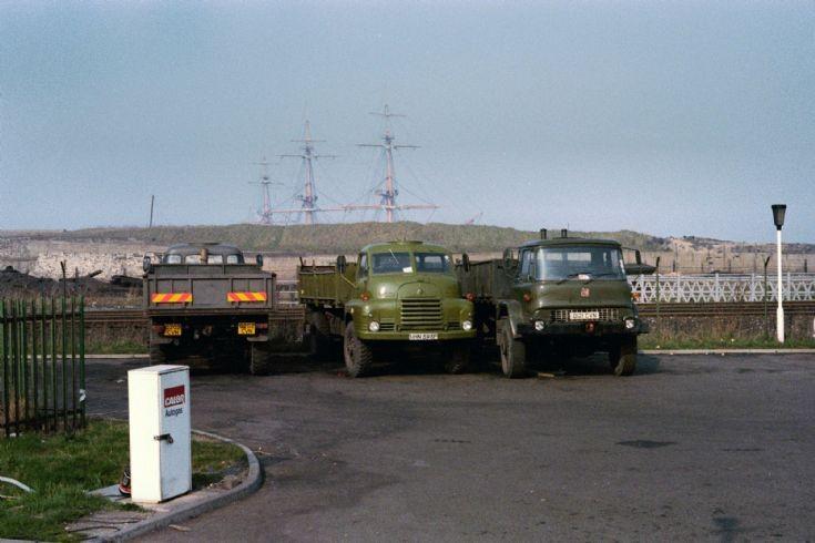Bedford Sea Coal wagons Hartlepool 1984