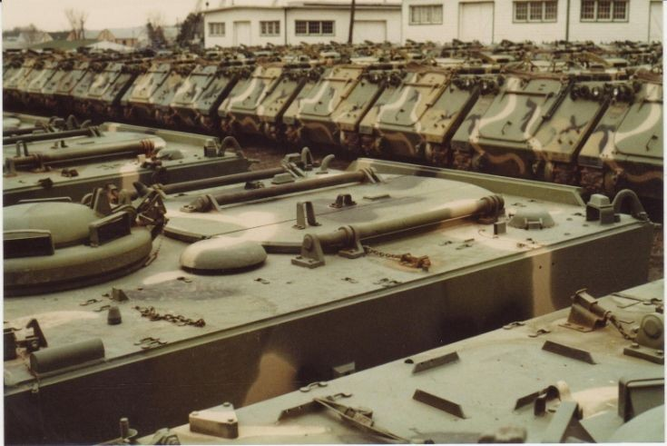 M106A1 Mortar and M113A1 APC.
