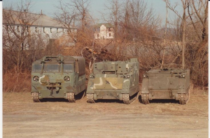 M548A1, M577A1, and M113A1