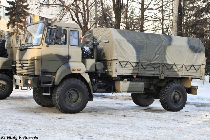 Ural-43206 variant without the hood