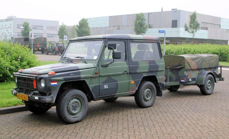 MB 29 GD 5kn with trailer Dutch Army