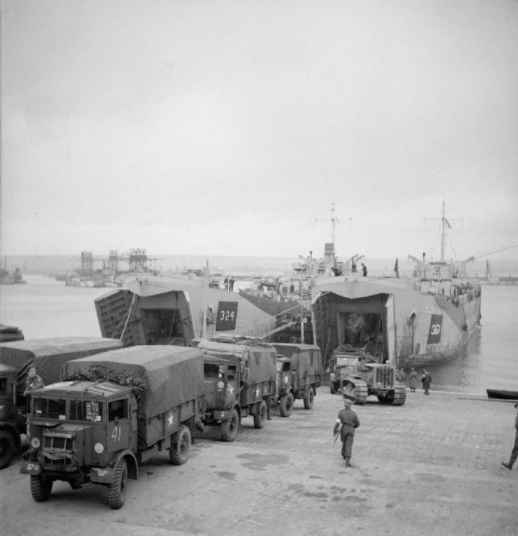 Vehicles being loaded
