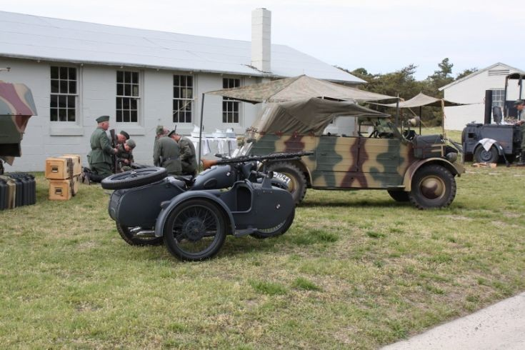 Old german WWII BMW and VW