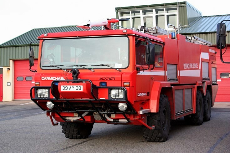 Crash tender at RAF Valley