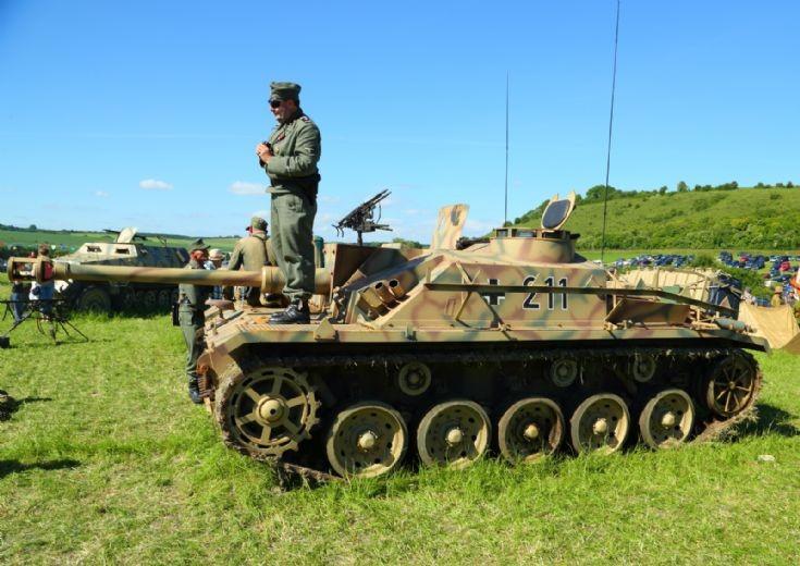 German Tank at Chalke Valley
