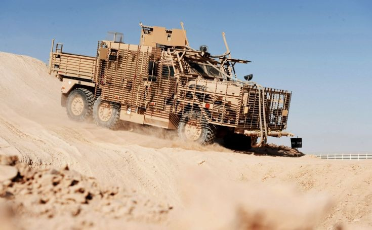 Army Driver Training for New Wolfhound Vehicle