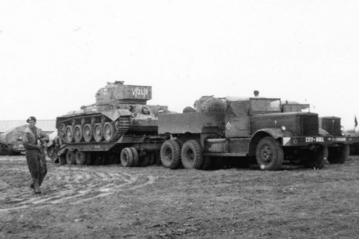 Comet Tank and Diamond T Middle East 1948.