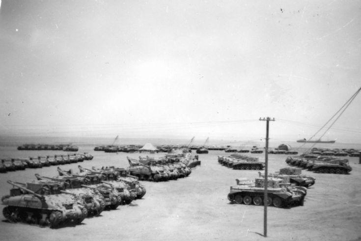 Tank Park Middle East c1948.