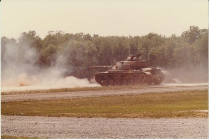 M60A3 TTS at Aberdeen, MD. Firing 105mm gun.