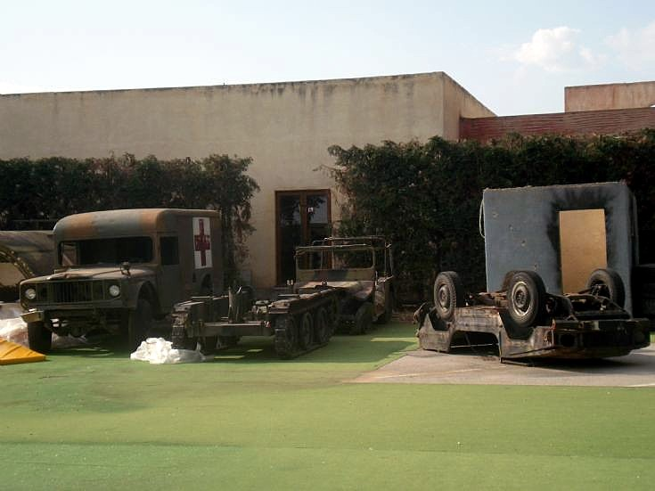 Old Military vehicle's in yard