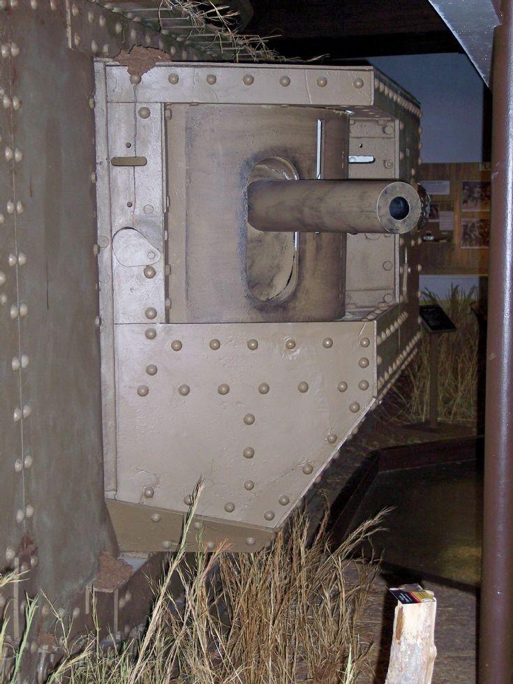 Gun Port on British Mark V Tank