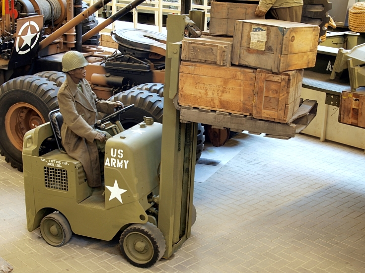 Forklift of the US Army