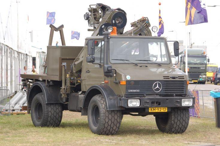 Unimog at firing range Vliehorse