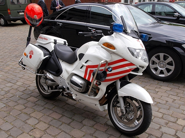 BMW motorcycle of the Belgian Military Police