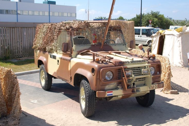 Land Rover Defender in desert camouflage