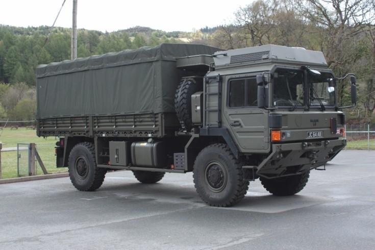 Army M.A.N truck
