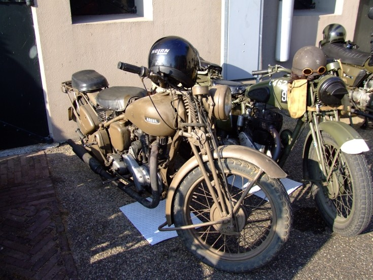 Classic Ariel military motorcycle