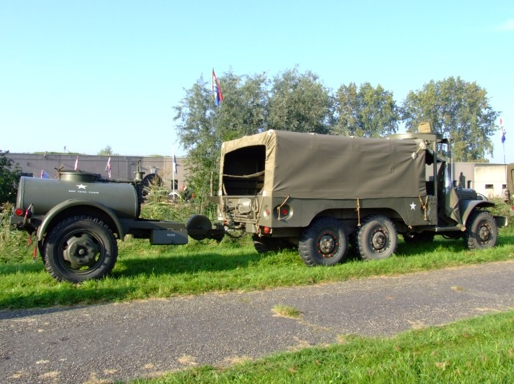 American Army six wheeler with trailer