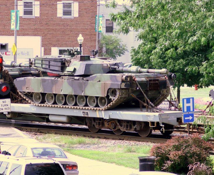 Abrams on a train
