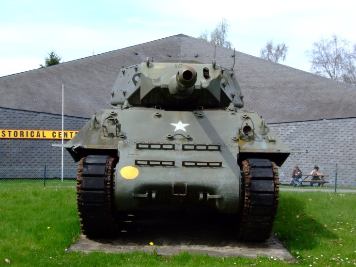 US army M10 at 'Battle of the Bulge' museum