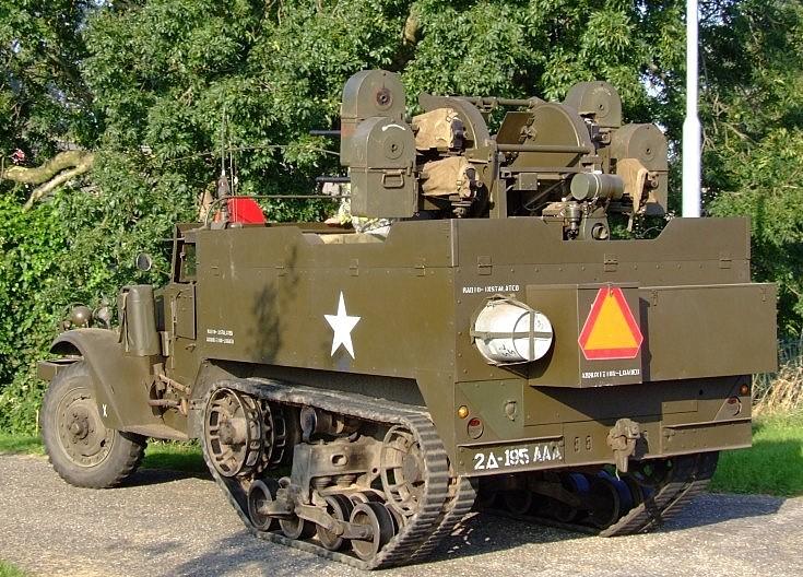 Preserved US Army WWII halftrack SPAAG
