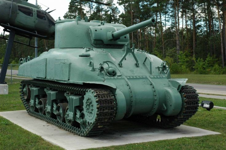 Canadian Grizzly M4A1 tank at museum