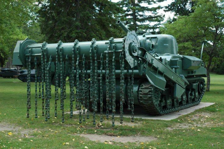 Sherman Crab mine flail tank