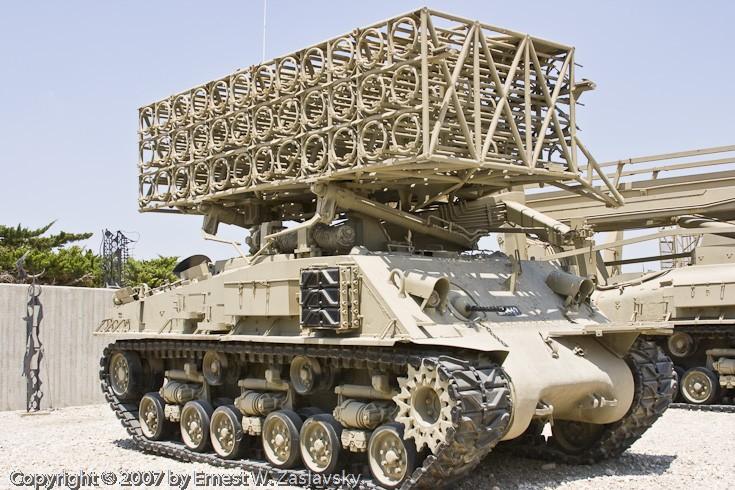 Sherman multiple rocket launcher