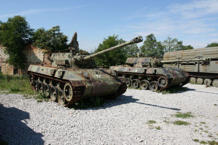 M18 Hellcat tanks.