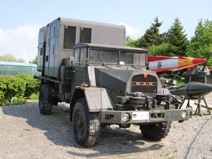 MAN flat bed military truck