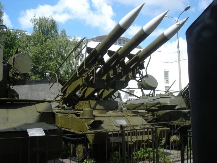 Mobile surface to air missile system 2K12 Kub