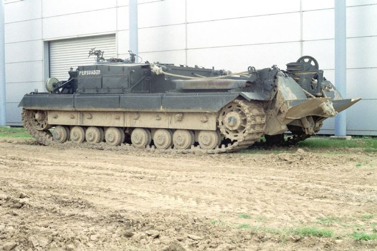 Armoured recovery Vehicle Persuader at Duxford