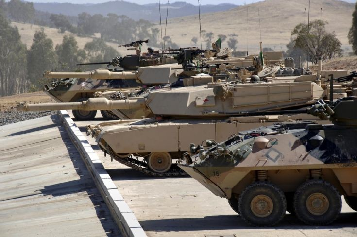 Australian Army Abrams & ASLAV's