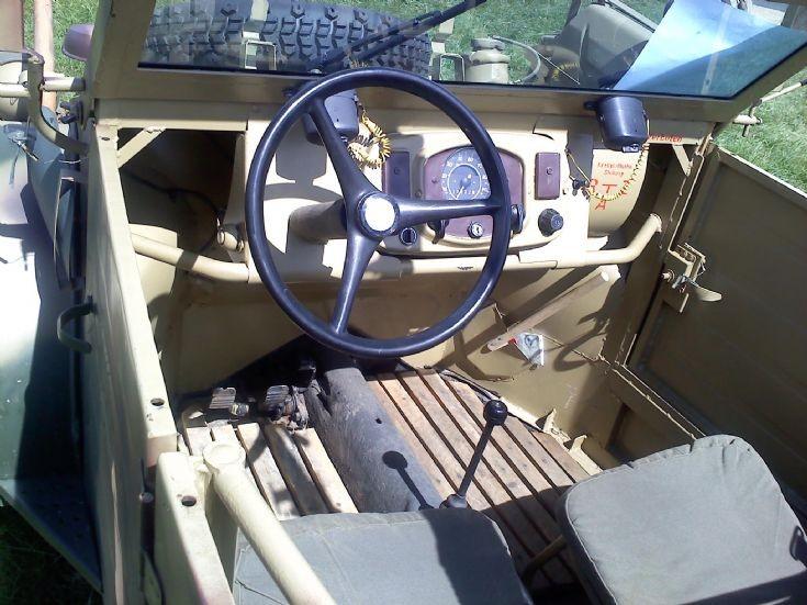 Inside a VW Kubelwagen