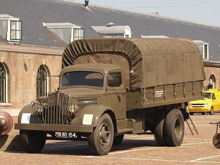 White military truck