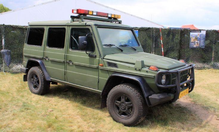 Armoured Mercedes G-class
