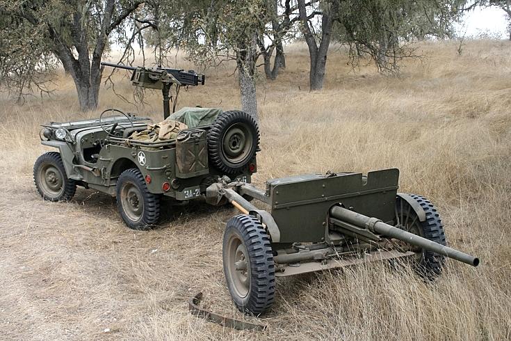 Jeep and 37mm AT gun