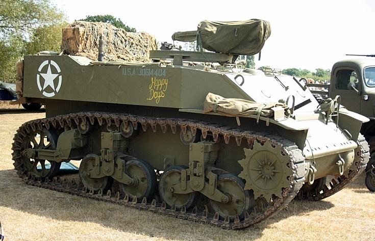 Turretless Stuart tank