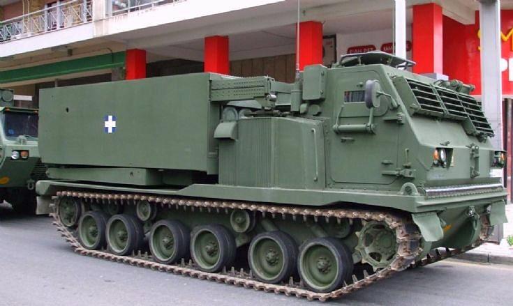 M-270 MLRS in Greek Army