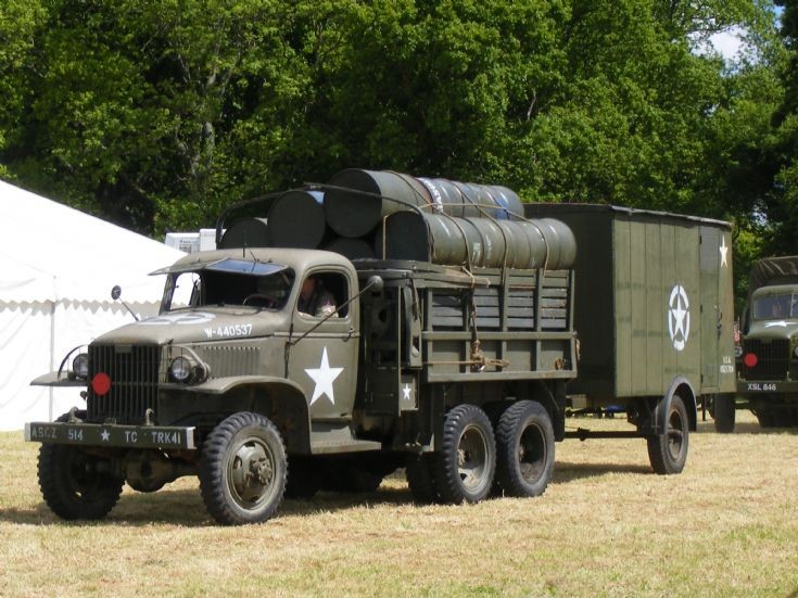 Dodge Truck with Single Axle Trailer