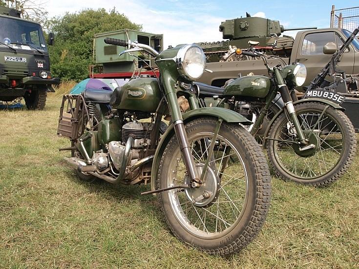 Triumph military motorbike