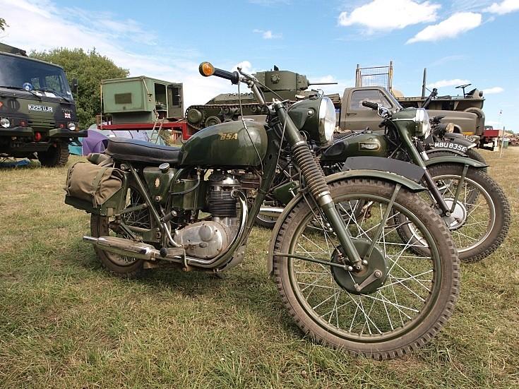 BSA military motorbike