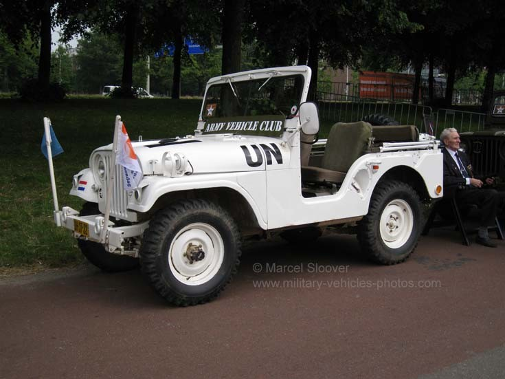 White UN Jeep of Army Vehicle Club