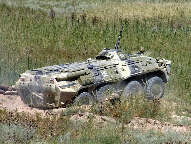 photo of BTR-80. Kazakhstan August 2004