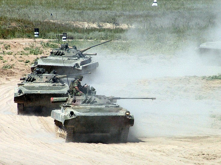 Photo of BMP-2. Kazakhstan August 2004