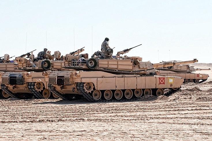 M1 tanks on the range