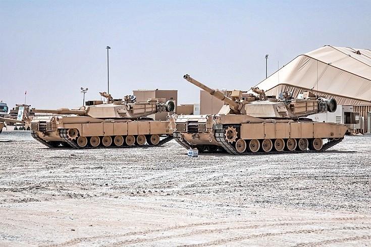 Abrams in the desert